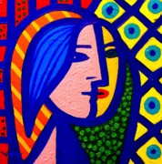 Canvas Wine Prints Painting Prints - Homage To Pablo Picasso Print by John  Nolan