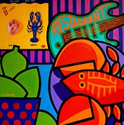 Pop Art Prints Painting Originals - Homage To Rock Lobster by John  Nolan