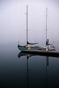 Boats At Dock Photo Posters - Home Again Poster by Skip Willits