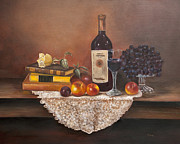 Wine Glass Paintings - Home Alone by Gina Cordova