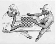 African-american Drawings - Home Boys by Ron Watson