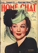 Nineteen Forties Art - Home Chat 1940s Uk Hats Magazines by The Advertising Archives