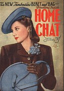 1940Õs Art - Home Chat 1940s Uk Womens Portraits by The Advertising Archives