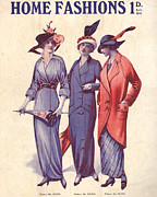 Vintage Posters - Home Fashion  1917 1910s Uk Womens Poster by The Advertising Archives