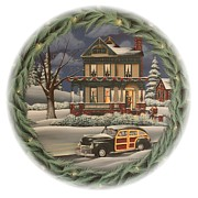 Christmas Scene Prints - Home for the Holidays Print by Catherine Holman