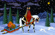 American Indian Paintings - Home for the Holidays by Chholing Taha 