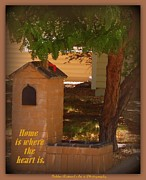 Print On Acrylic Prints - Home is Where My Mailbox Is Print by Bobbee Rickard