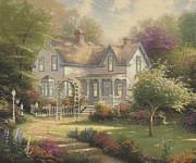 Farm House Paintings - Home Is Where The Heart Is II by Thomas Kinkade