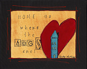 Razorbacks Paintings - Home is Where the Hogs Are 2 by Cindy Watkins