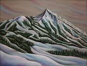 Skiing Pastels - Home by Jim Figora
