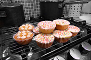 Simon Bratt Photography Acrylic Prints - Home made cakes on the oven Acrylic Print by Simon Bratt Photography