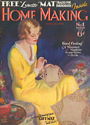 Covers Drawings Prints - Home Making 1932 1930s Uk Housewives Print by The Advertising Archives