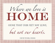 Hearts Digital Art - Home by Marianne Beukema
