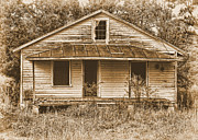 Abandoned Houses Digital Art Metal Prints - Home No More Metal Print by Victor Montgomery