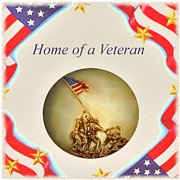 Patriotism Painting Posters - Home of a Veteran Poster by Charles Ott