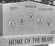 Home Of The Brave Print by Heather Allen