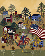 July 4th Paintings - Home Of The Brave by Medana Gabbard
