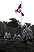 Korean War Memorial Photos - Home of the Brave by Mitch Cat