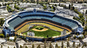 Dodger Stadium Prints - Home of the Los Angeles Dodgers Print by Carol M Highsmith