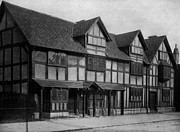 Old Home Place Photos - Home of William Shakespeare in Stratford-on-Avon England 1890 Photo by Antique Engravings