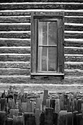Cabin Window Framed Prints - Home on the Range Framed Print by Edward Fielding