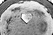 Home Plate Metal Prints - Home Plate Fisheye Metal Print by John Rizzuto