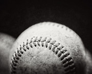Black And White Baseball Posters - Home Run Ball II  Poster by Lisa Russo