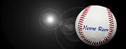 Home Run - Baseball - Sport - Night Game - Panorama Print by Andee Photography