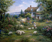 Pallet Knife Paintings - Home Sheep Home by Ghambaro