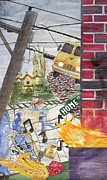 Church Street Mixed Media Framed Prints - Home Street Home Framed Print by Craig Kennedy