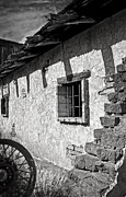 Cabin Window Photos - Home Sweet Adobe in Black and White by Lee Craig