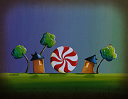 Humor. Paintings - Home Sweet Home by Cindy Thornton