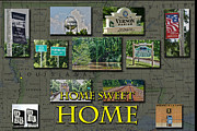 Old Home Place Framed Prints - Home Sweet Home Framed Print by D Wallace