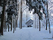 Snow Drifts Photos - Home Sweet Home by Elizabeth Dow