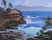 Coconut Trees Paintings - Home Sweet Home by Jojo Candelario Estacio