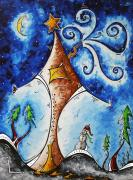 Christmas Eve Metal Prints - Home Sweet Home Metal Print by Megan Duncanson