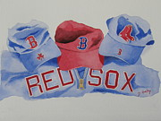 Red Sox Metal Prints - Home Team Metal Print by Don Hurley