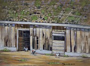 California Vineyard Paintings - Home to Roost by Cheryl Bloomfield
