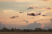 Classic Aircraft Digital Art - Home to Roost by Pat Speirs