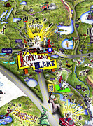 Kirkland Digital Art Posters - Home Town Poster by Mark Didine