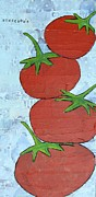 Tomatos Painting Metal Prints - Homegrown Metal Print by Tracy Yarbrough