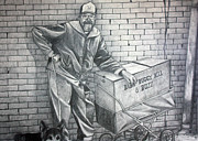 Awareness Drawings Posters - Homeless Bill Poster by Dennis Nadeau