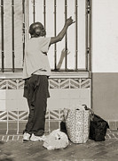 Homeless Photos - Homeless man reaching up with his hand by Kim M Smith