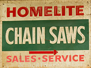Old Saws Framed Prints - Homelite Chain Saws Service Framed Print by Douglas Barnett