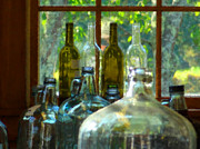 Jugs Prints - Homemade Wine Jugs Print by Jack Gannon