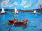 Massachusetts Coast Paintings - Homers Harbour Revisited by Beth Sebring