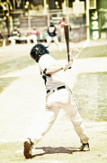 Baseball Bat Metal Prints - HomeRun Hitter Metal Print by Karol  Livote