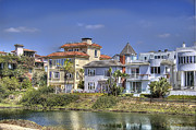 Horizontal - Homes Along the Creek by Chuck Staley