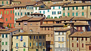 The Houses Prints - Homes in Cortona Print by David Letts