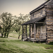 Log Cabin Photos - Homestead at Dusk by Heather Applegate